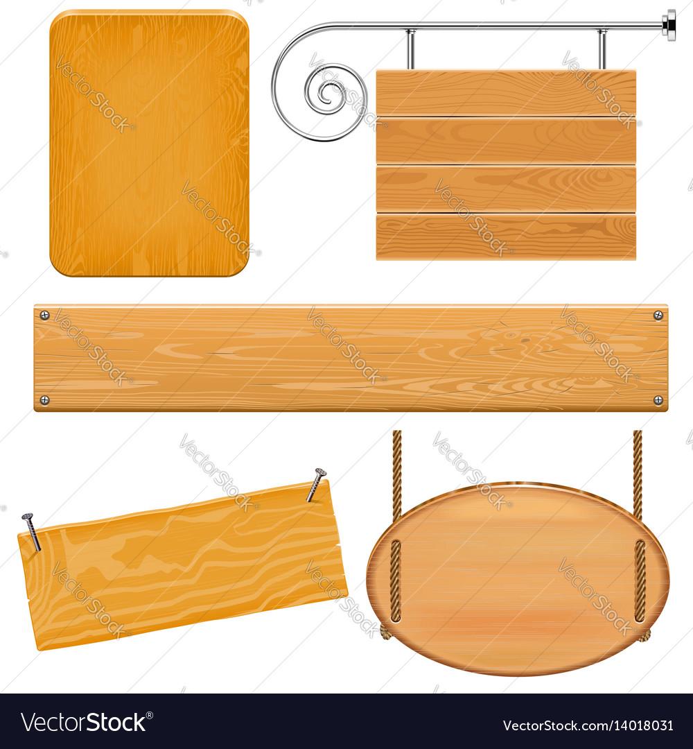 Boards set 9 vector image