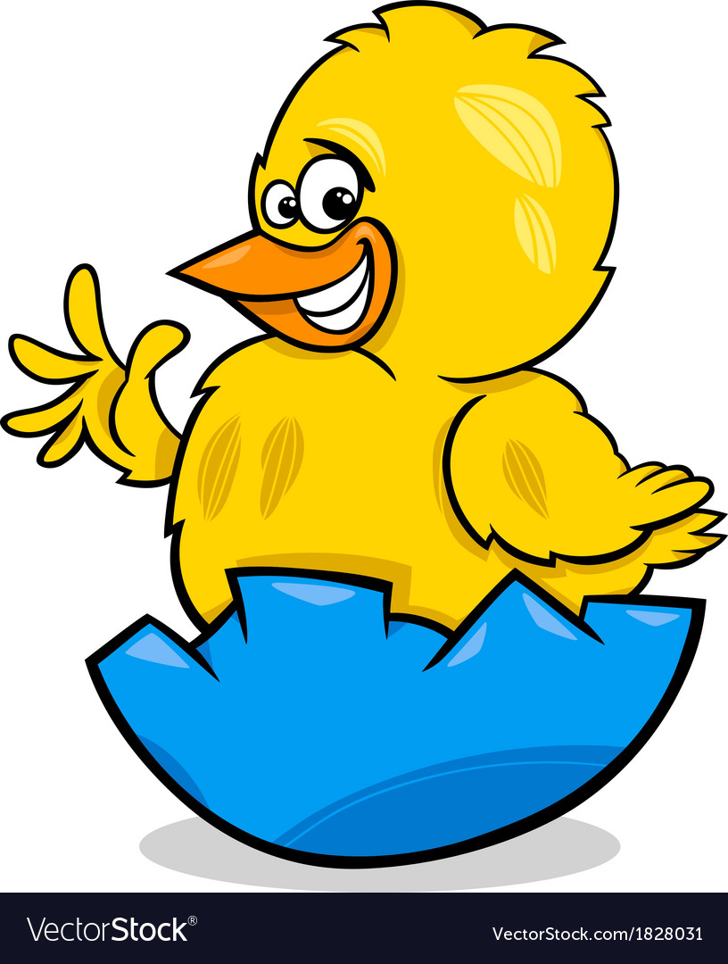 Easter chicken cartoon vector image