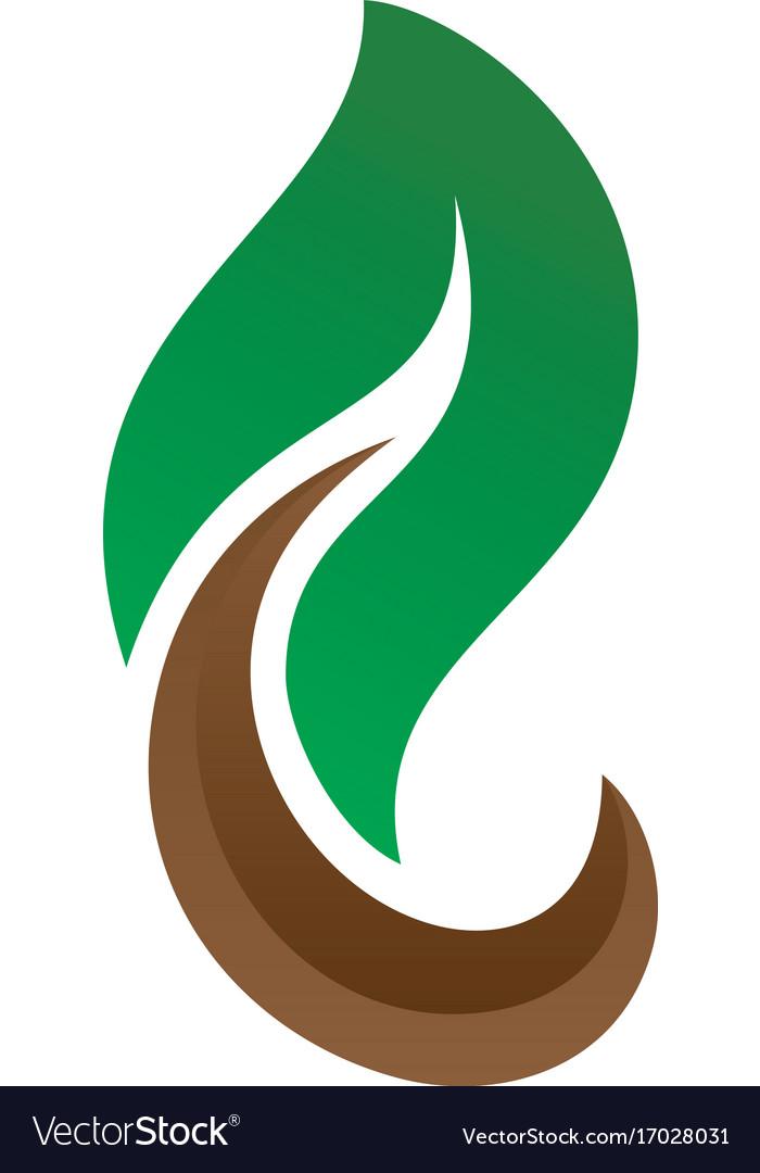 Leaf eco nature logo image