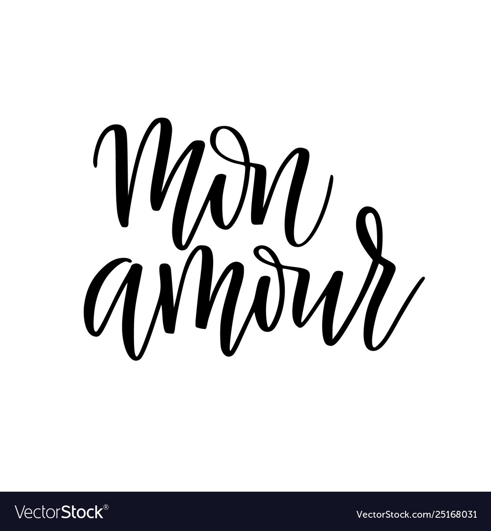 My love in french digital calligraphy