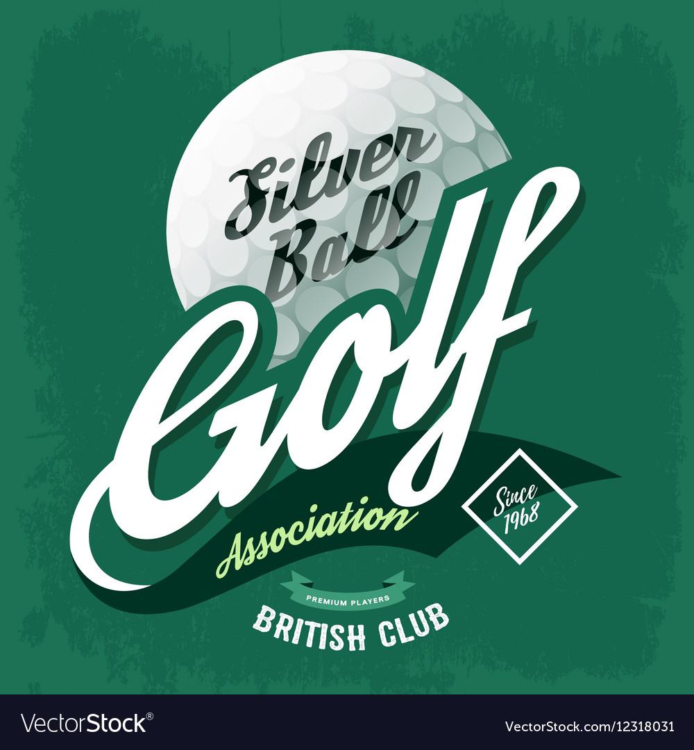 T-shirt label symbol made of golf ball