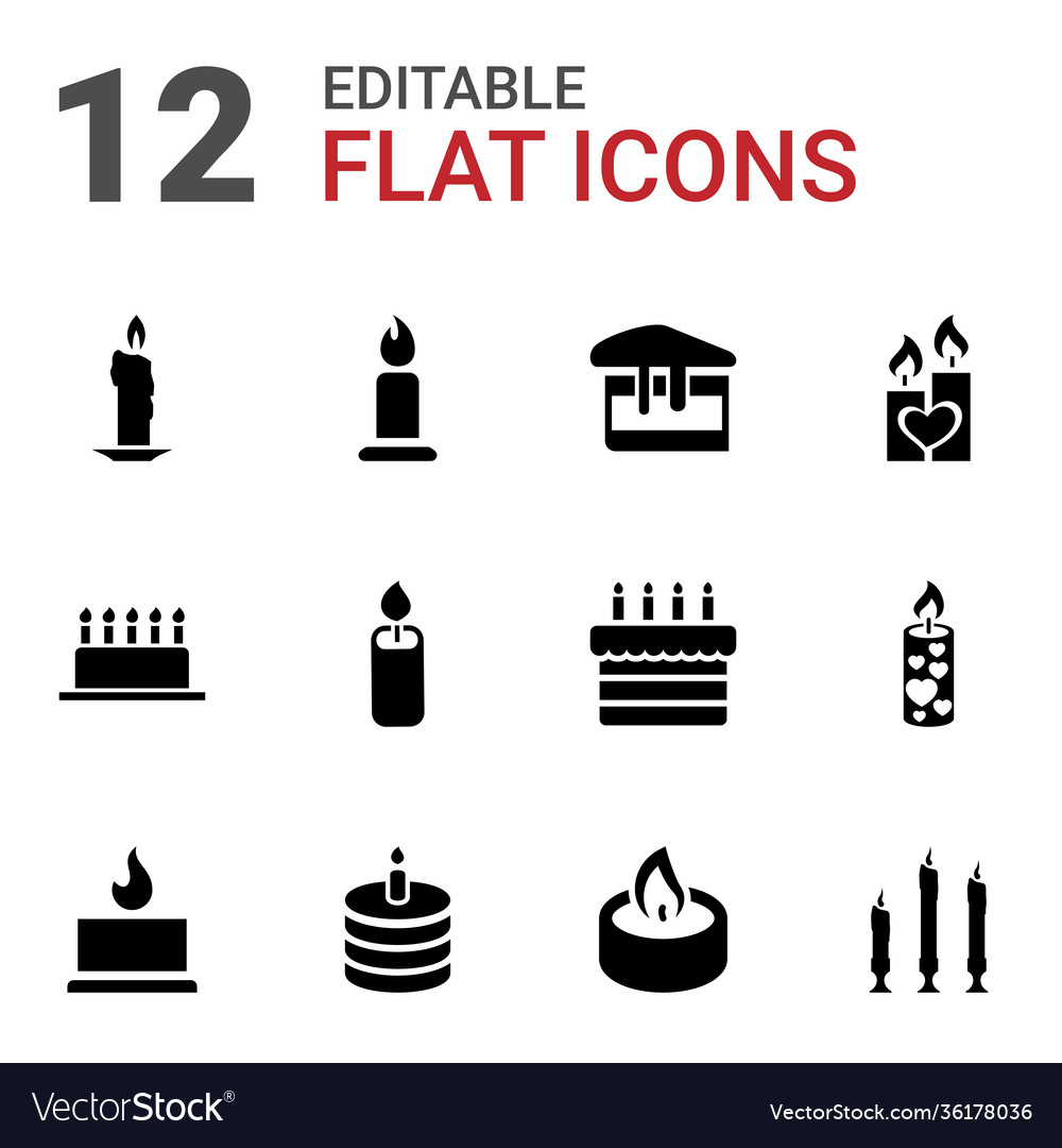 12 candle icons