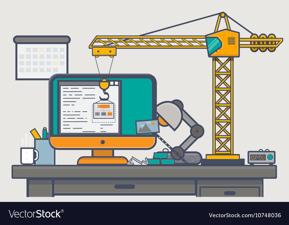 Building website with crane