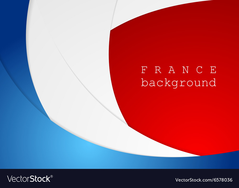 Corporate wavy bright abstract background French vector image
