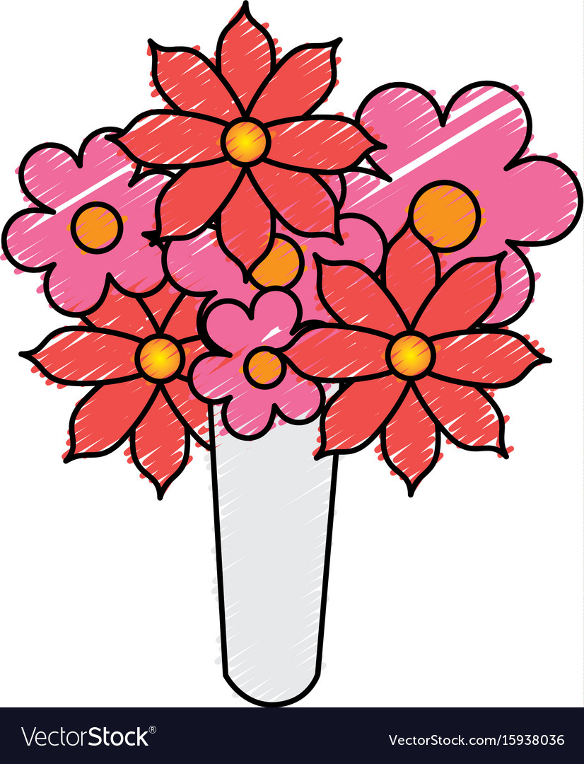 Cute bouquet of flowers royalty free vector image cute bouquet of flowers vector image izmirmasajfo