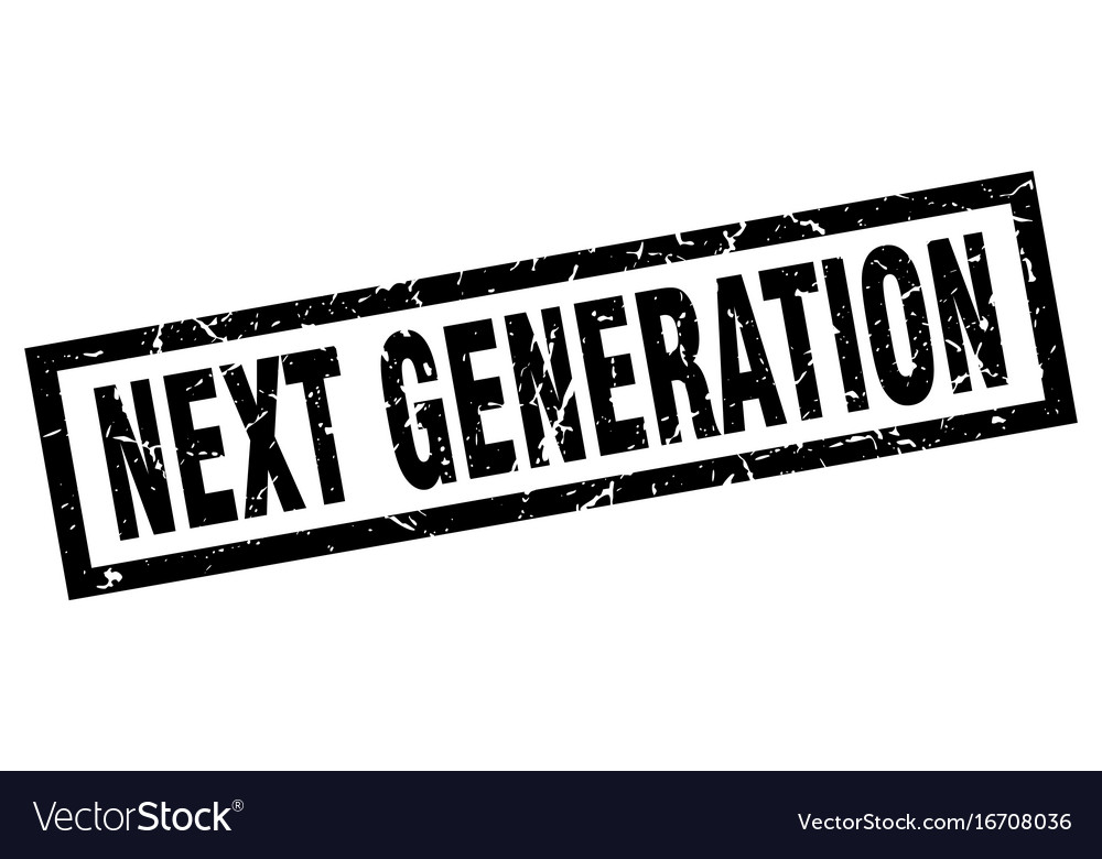 Square Grunge Black Next Generation Stamp Vector Image