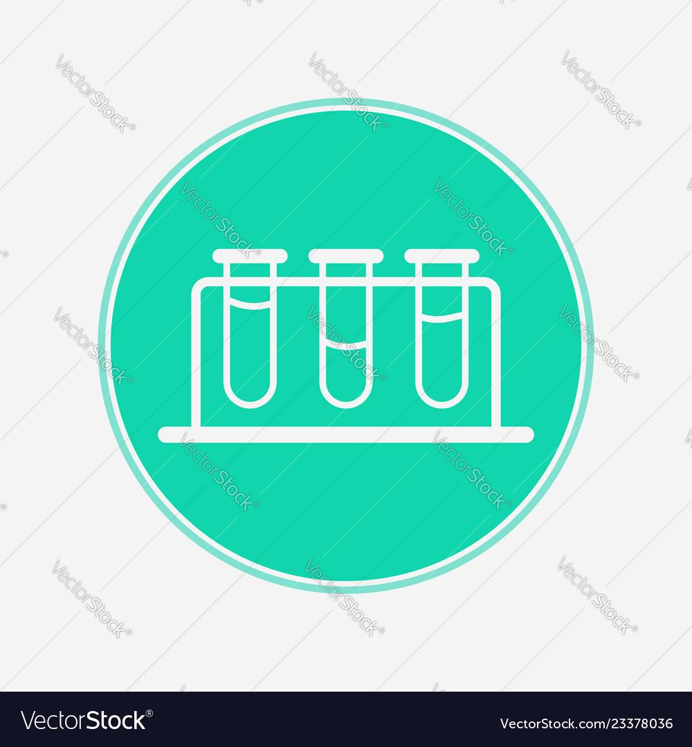 Test tube icon sign symbol