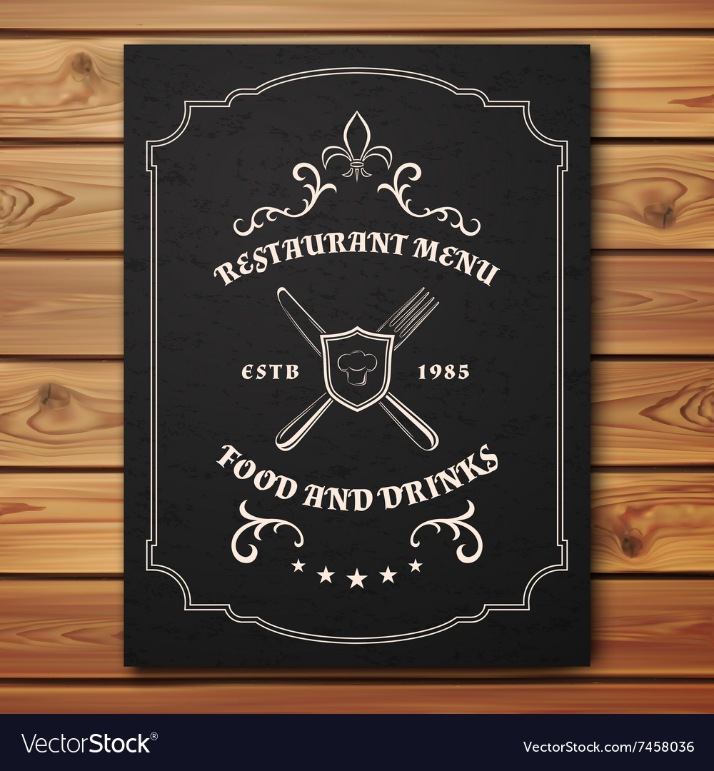 Vintage restaurant or cafe menu template