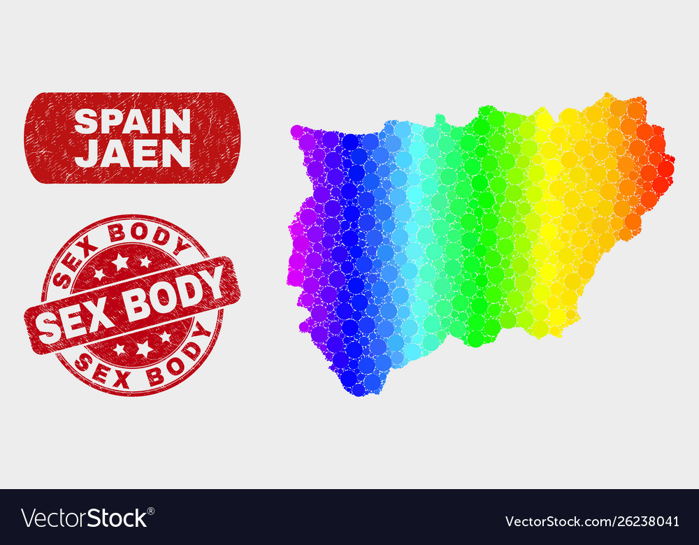 Map Of Spain Jaen.Bright Mosaic Jaen Spanish Province Map And