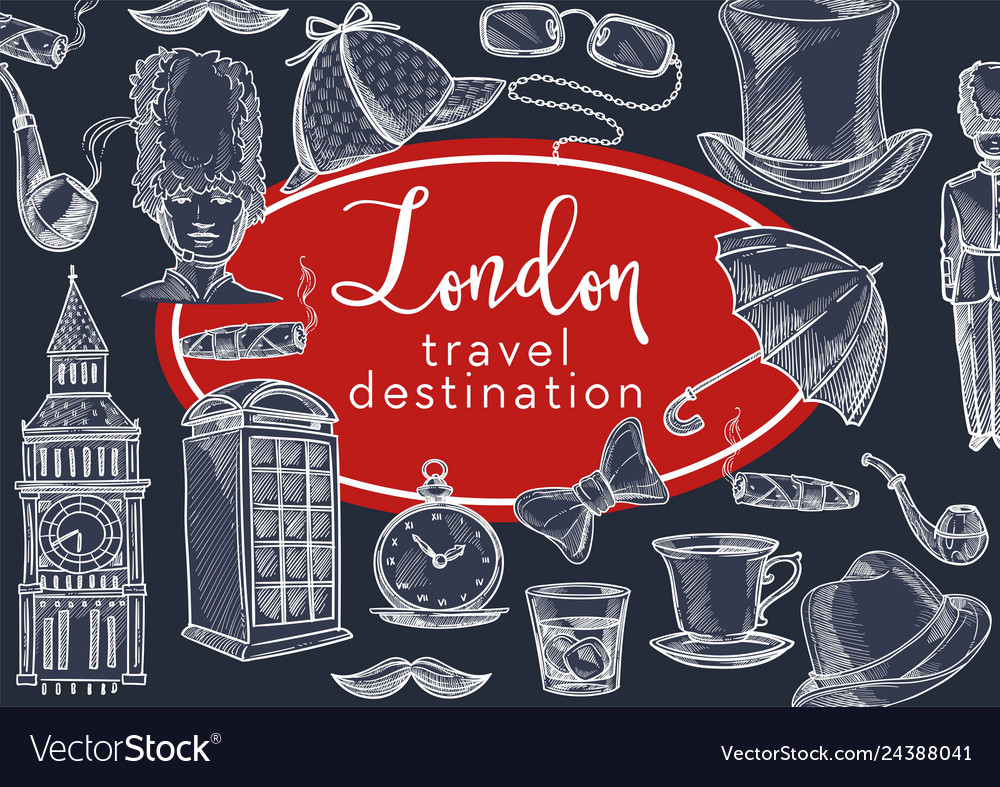 London travel destination england symbols and