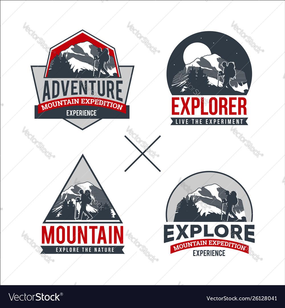 Professional mountain logo collection