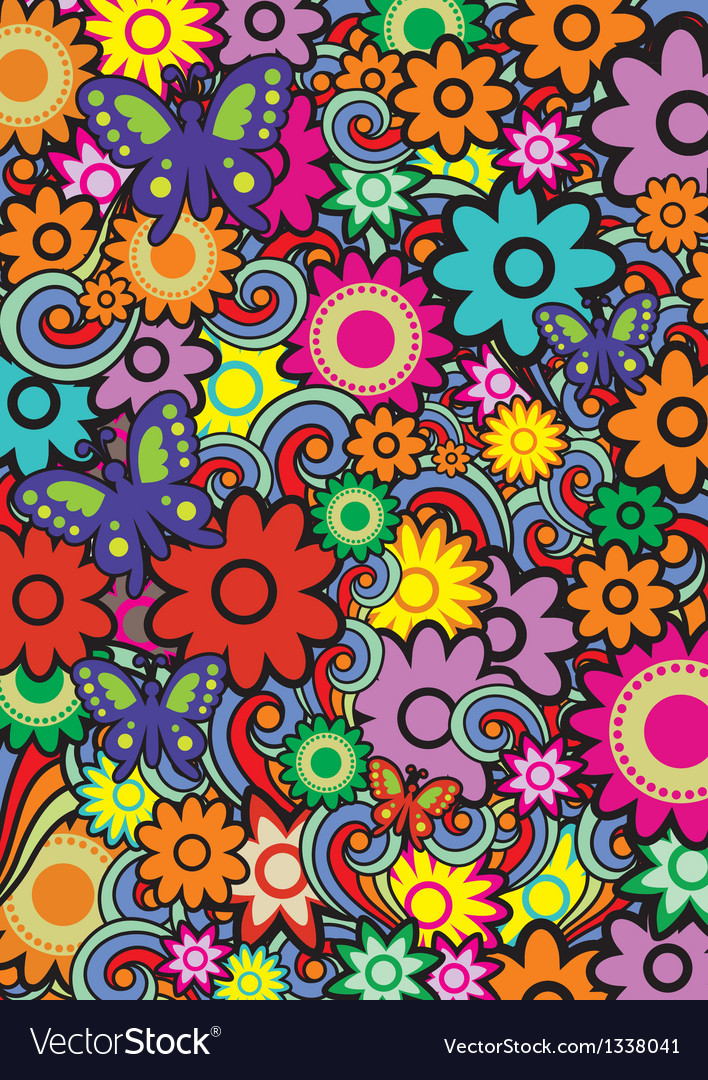 Seamless pattern with color