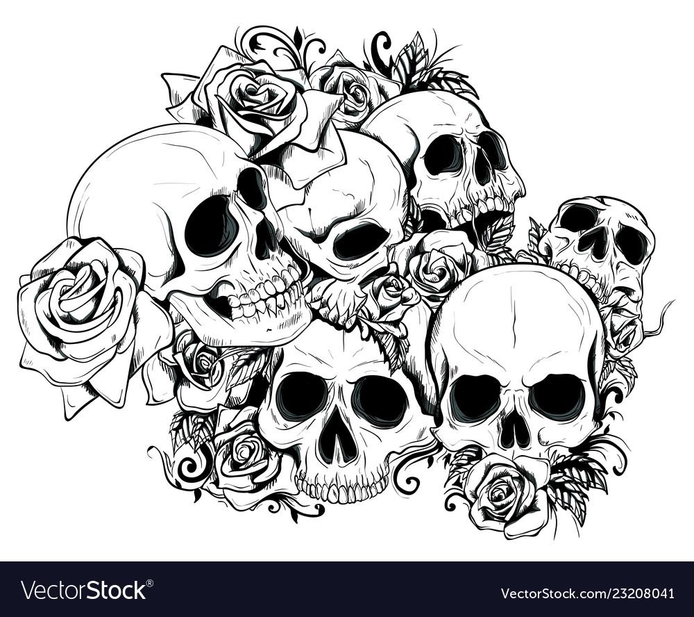 Seamless skulls in