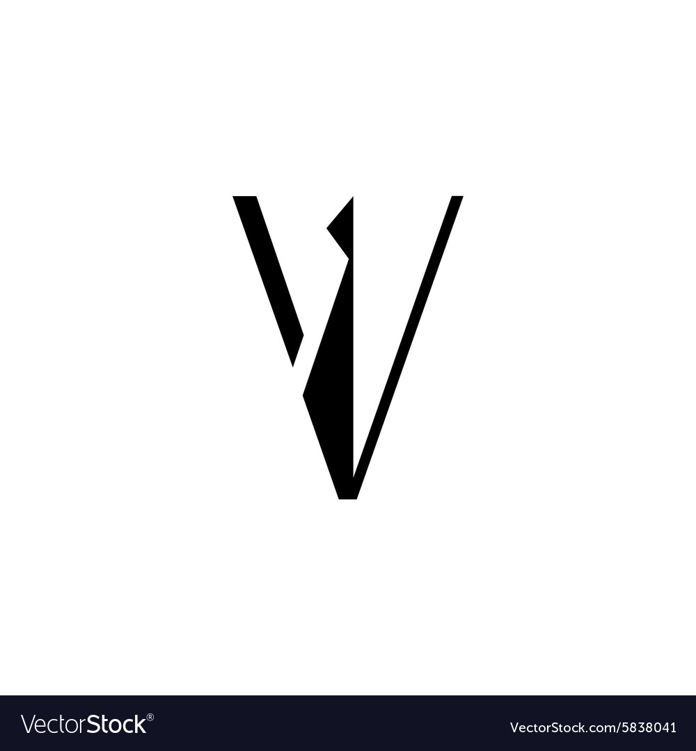 Sign the letter V vector image