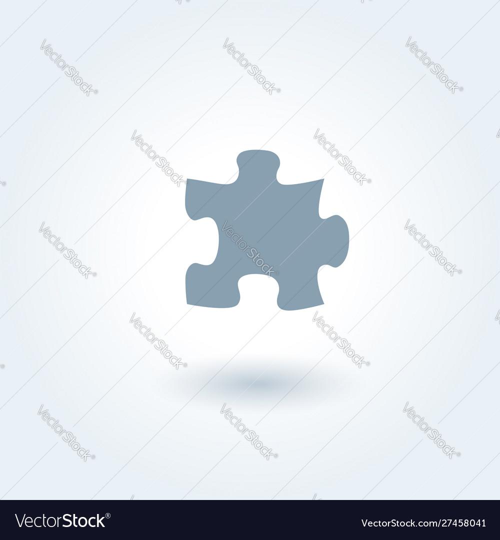 Single grey puzzle piece 1