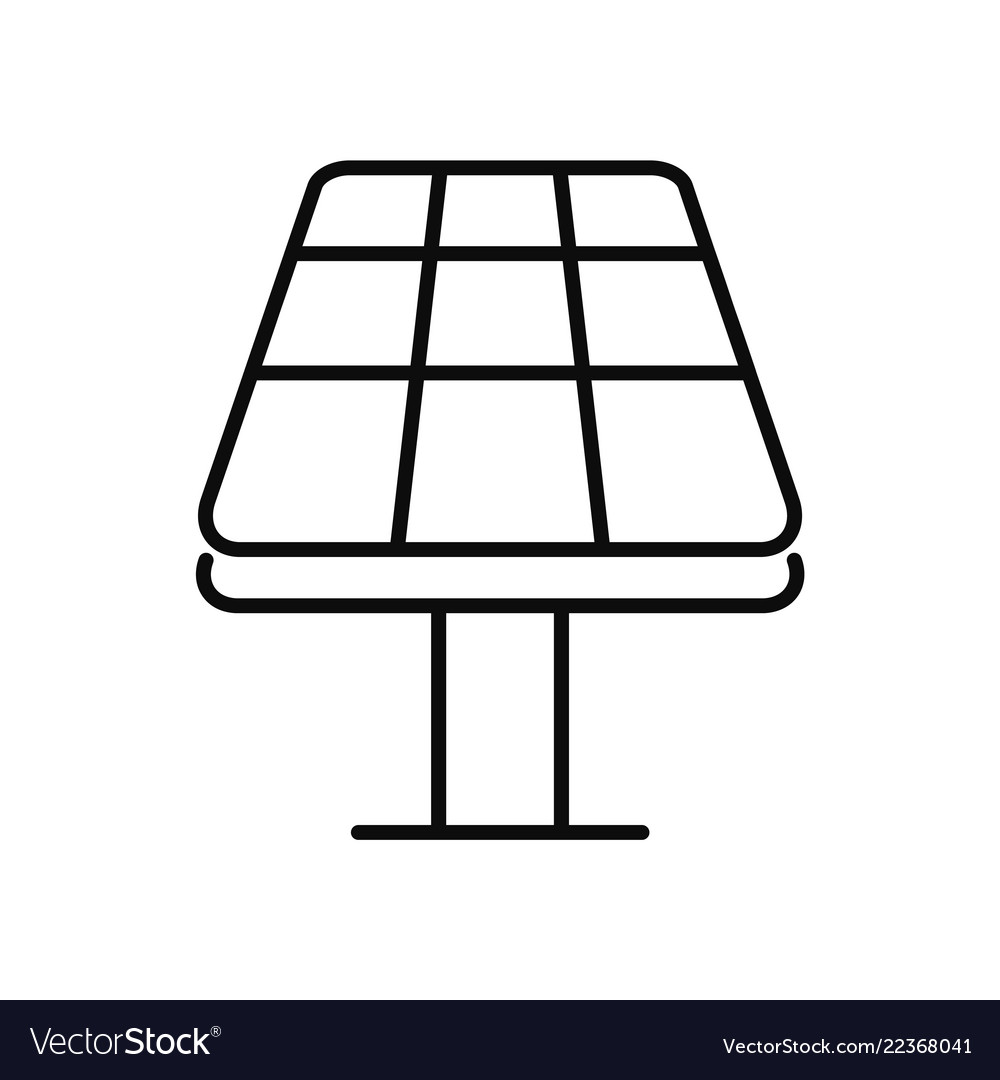 Sun panel icon outline style
