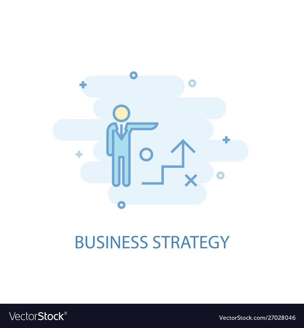 Business strategy line concept simple line icon
