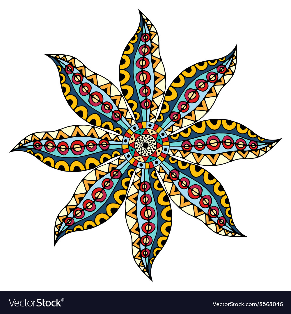 Card with mandala vector image