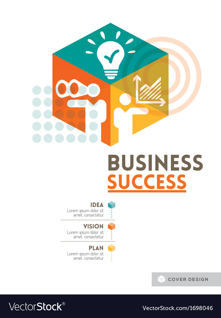 Cubic Business Success concept design layout vector image