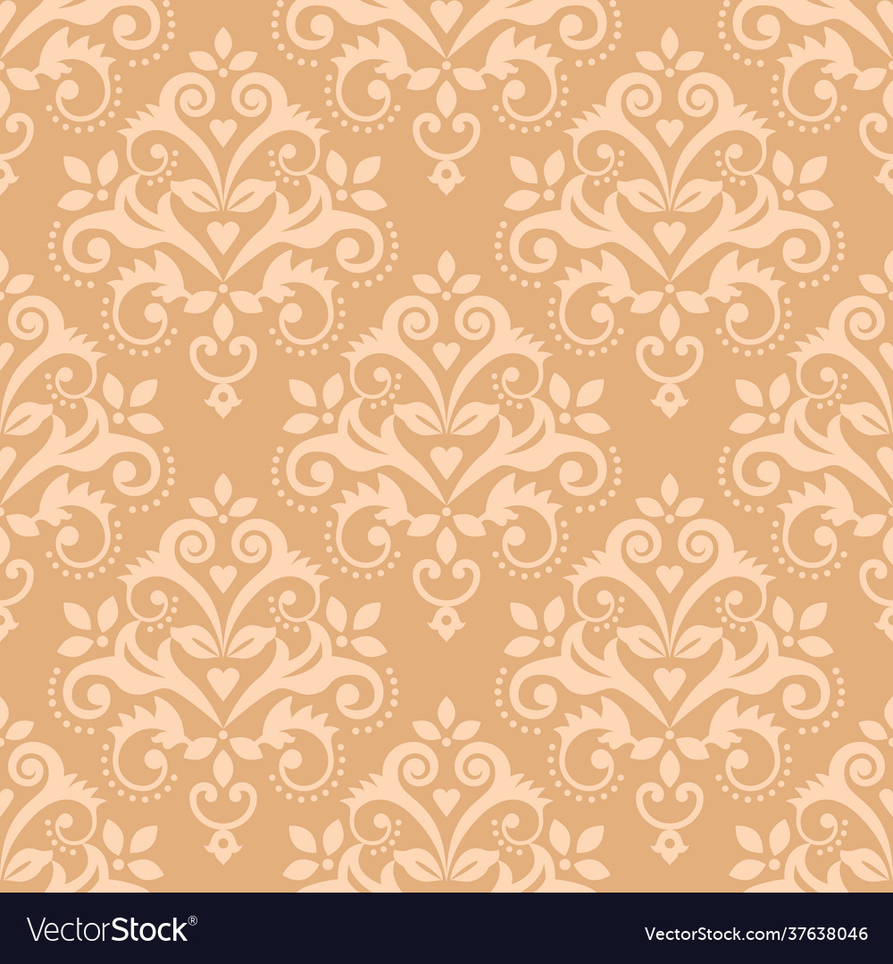 Damask tiled classic wallpaper seamless pattern