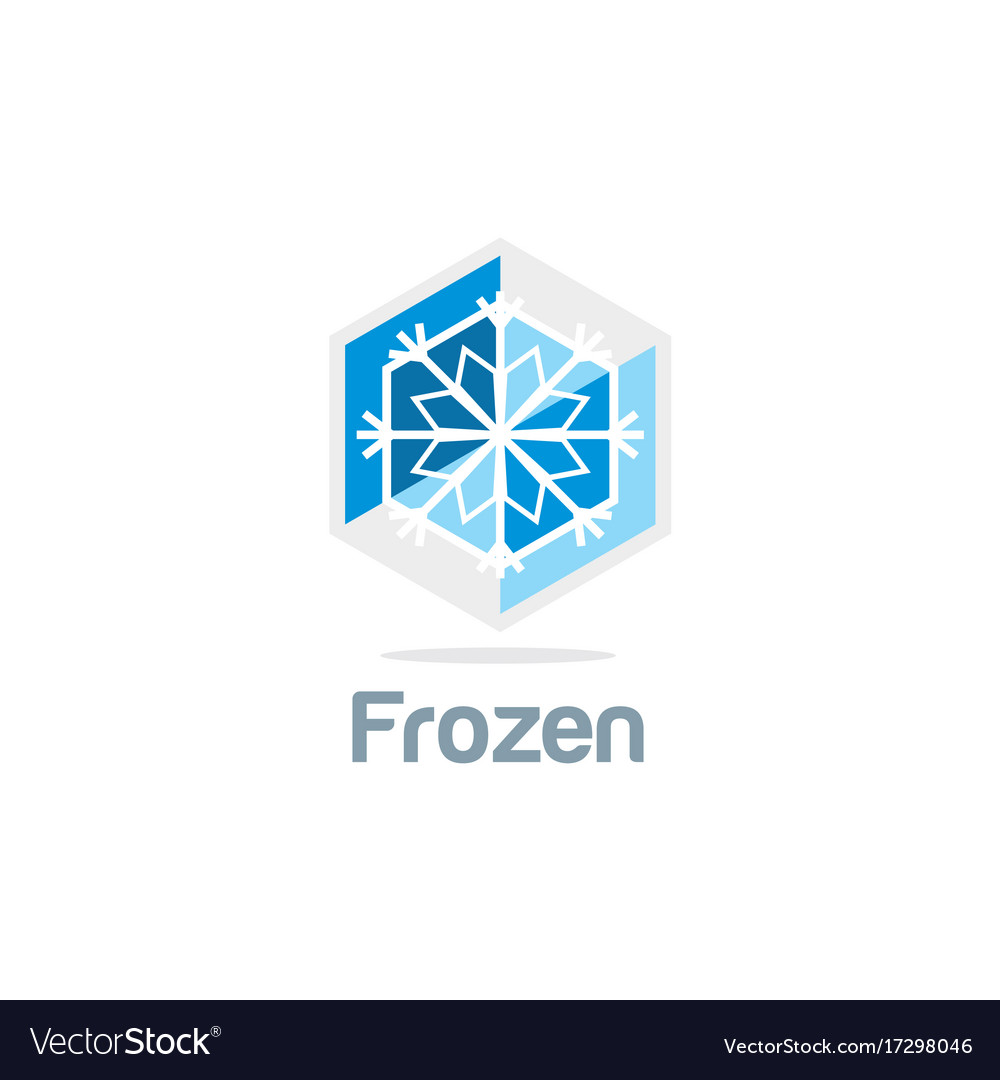 Frozen ice flower logo