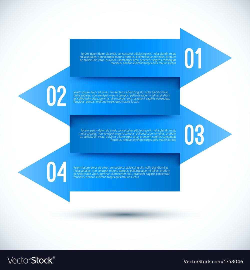 Modern business infographics arrow template