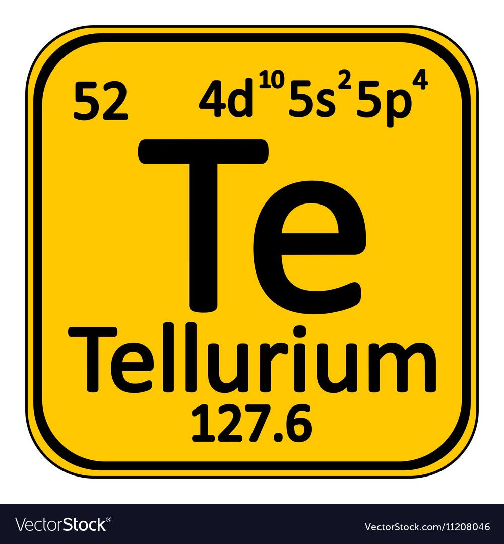 Periodic table element tellurium icon