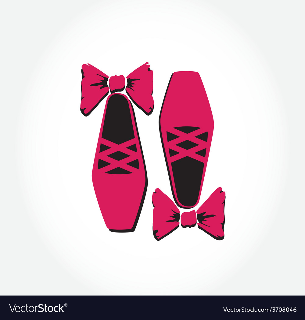 Pink ballet pointes shoes