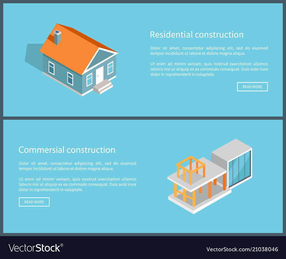 Residential Construction Set Vector Image