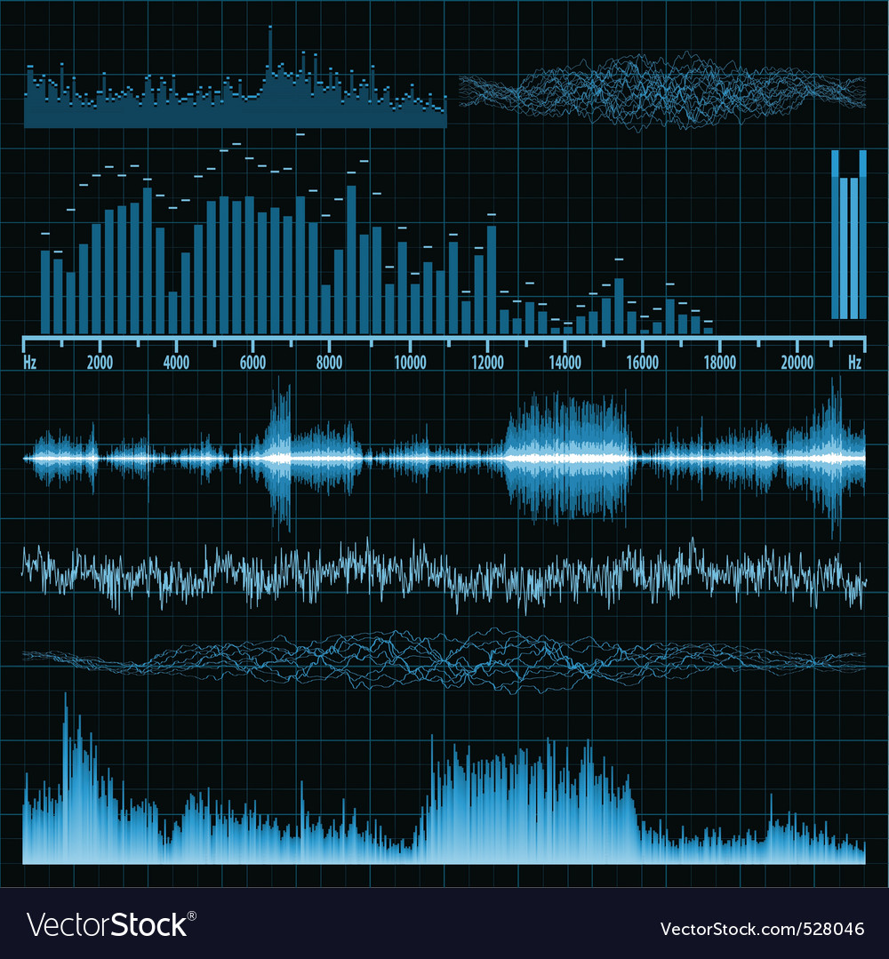 Sound waves music background vector image