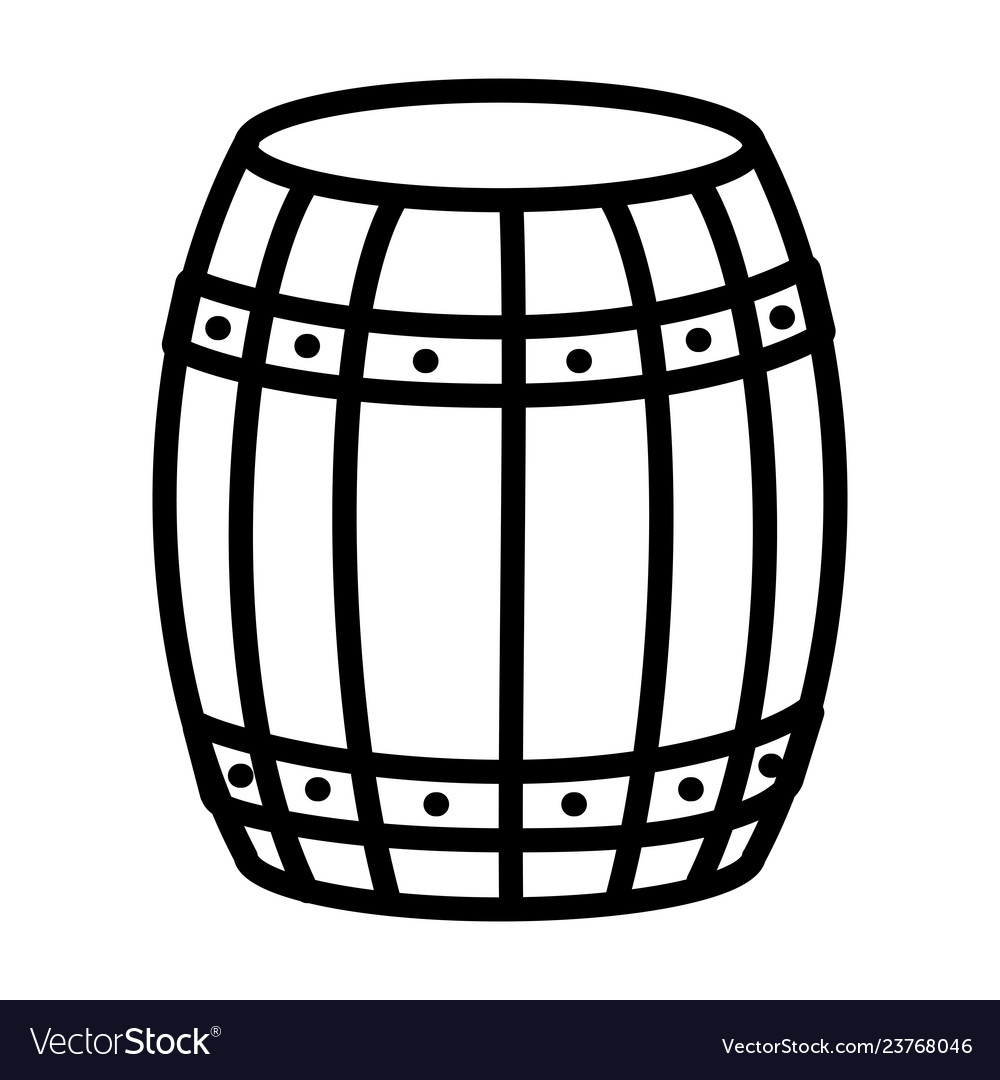 Wooden barrel cartoon