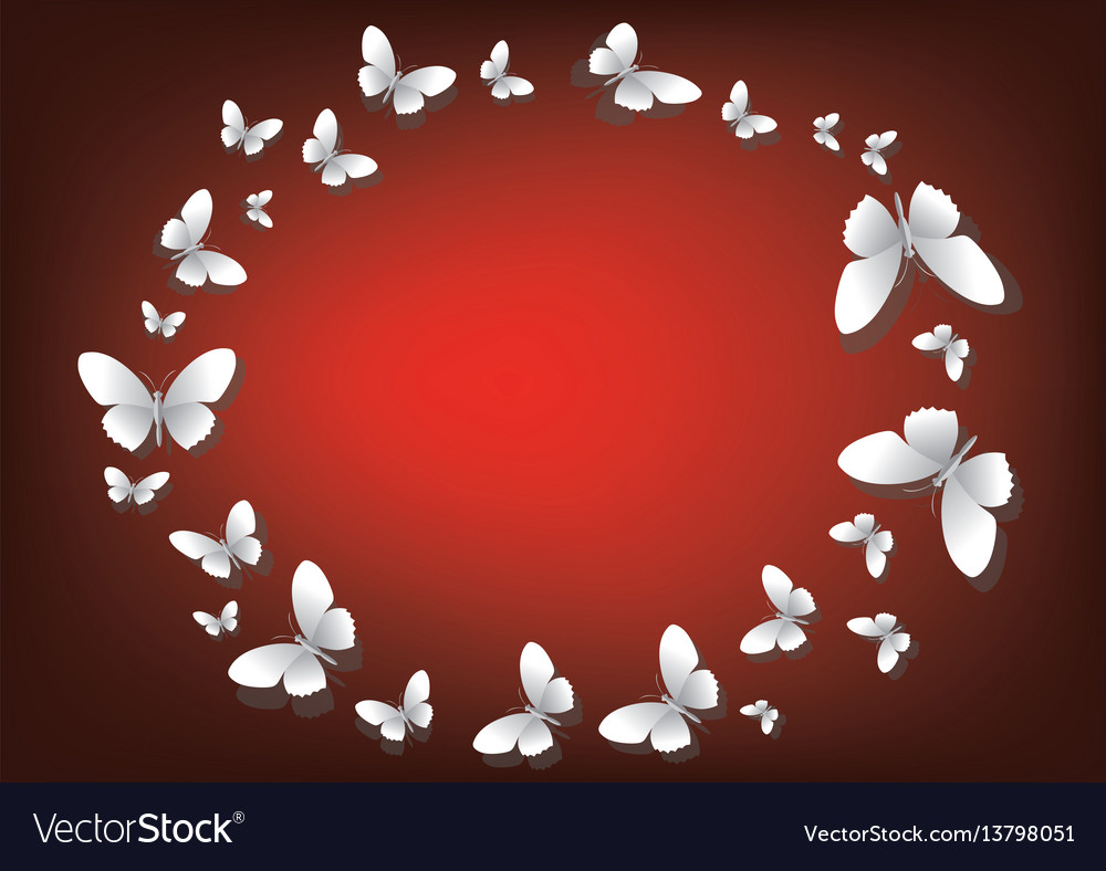 Abstract red background with white paper