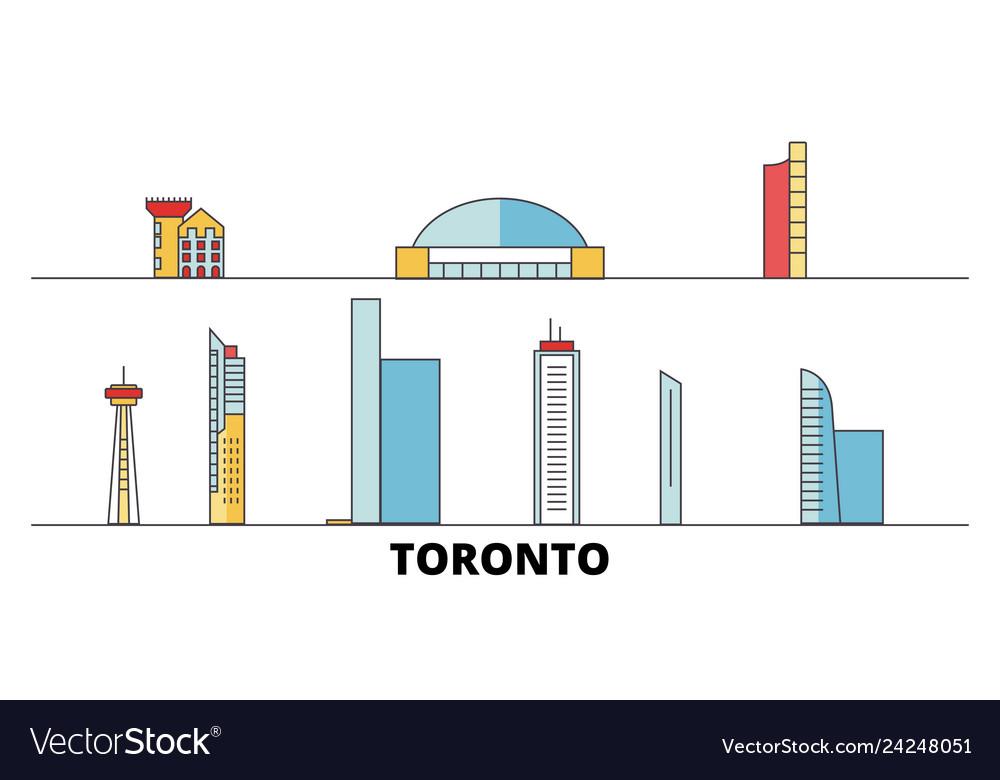 Canada toronto city flat landmarks