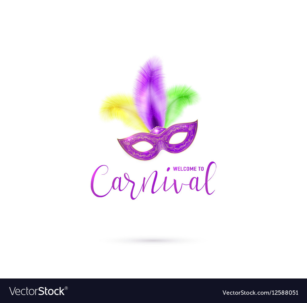 Carnival card with mask and