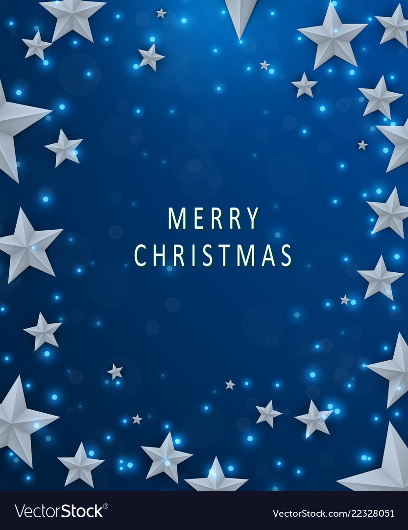 Christmas and new years blue background with frame