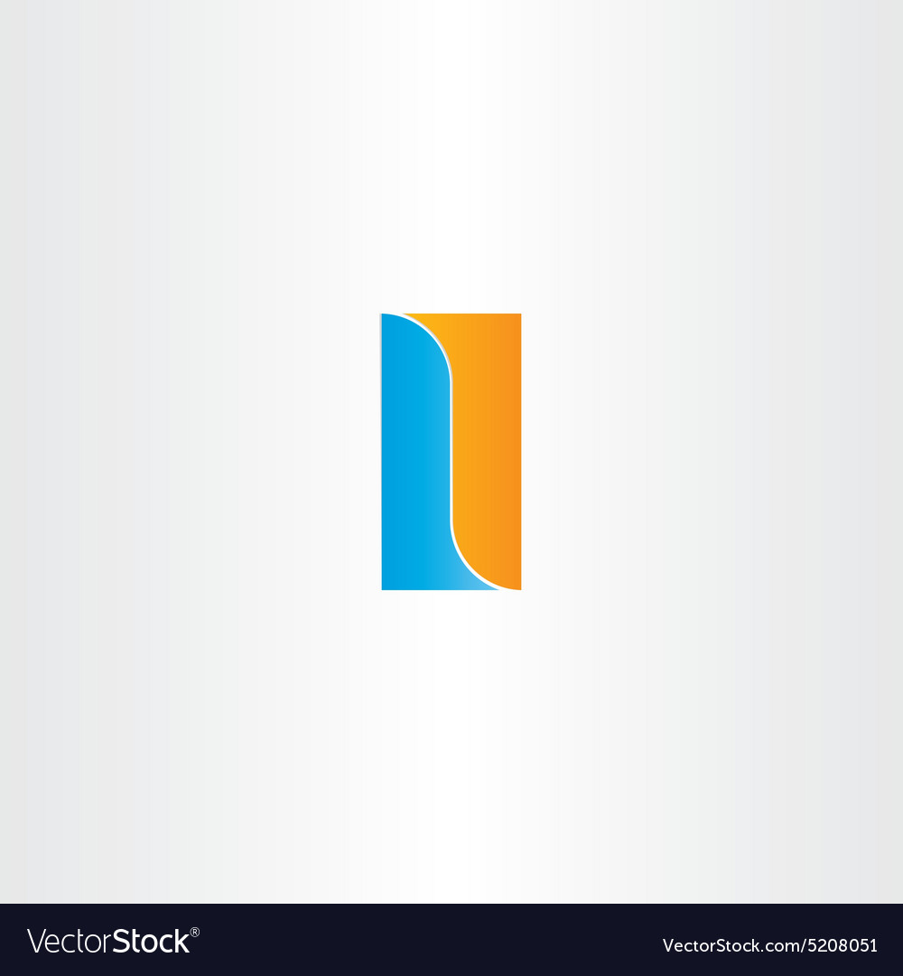 Double letter l logo design vector image