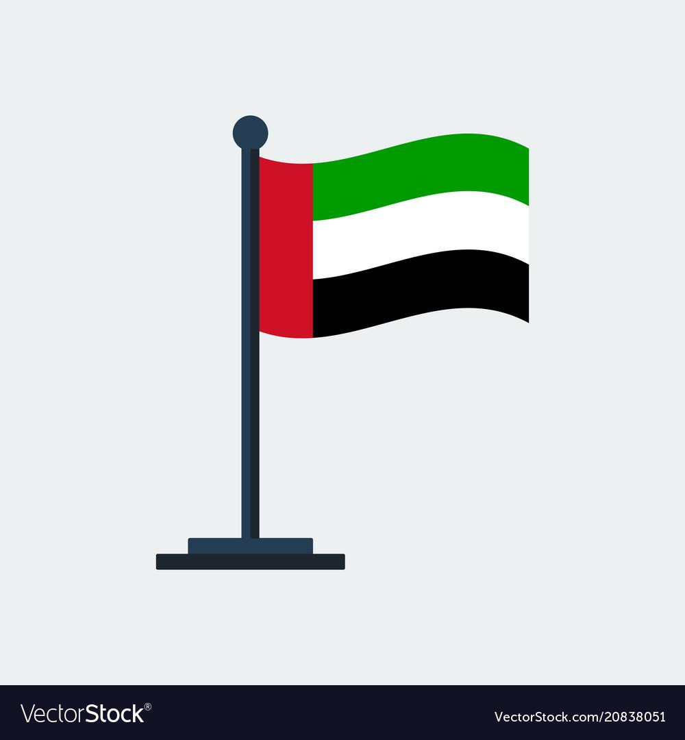 Flag of uaeflag stand