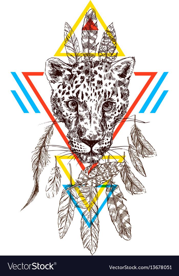 Hand-drawn leopard