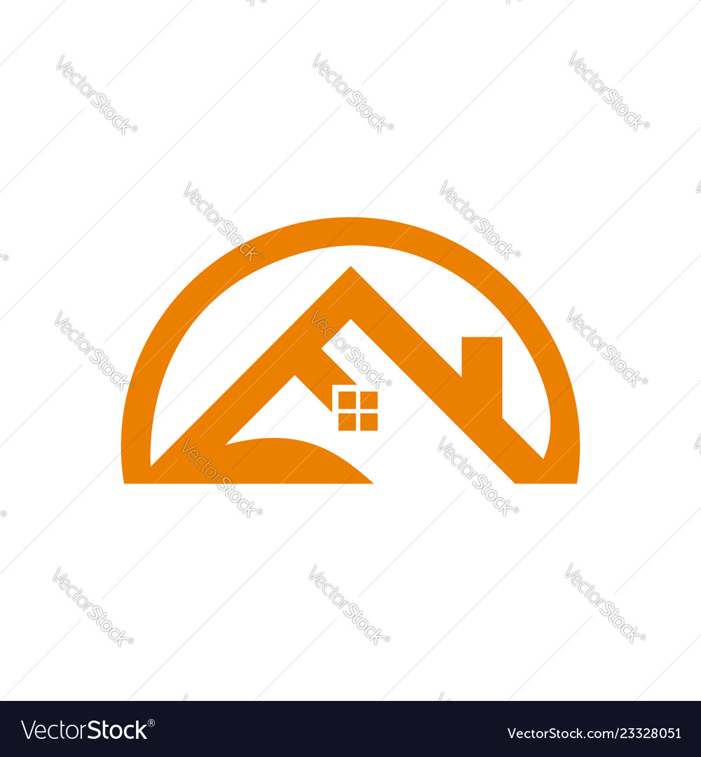 House roof and home logo element colored blue
