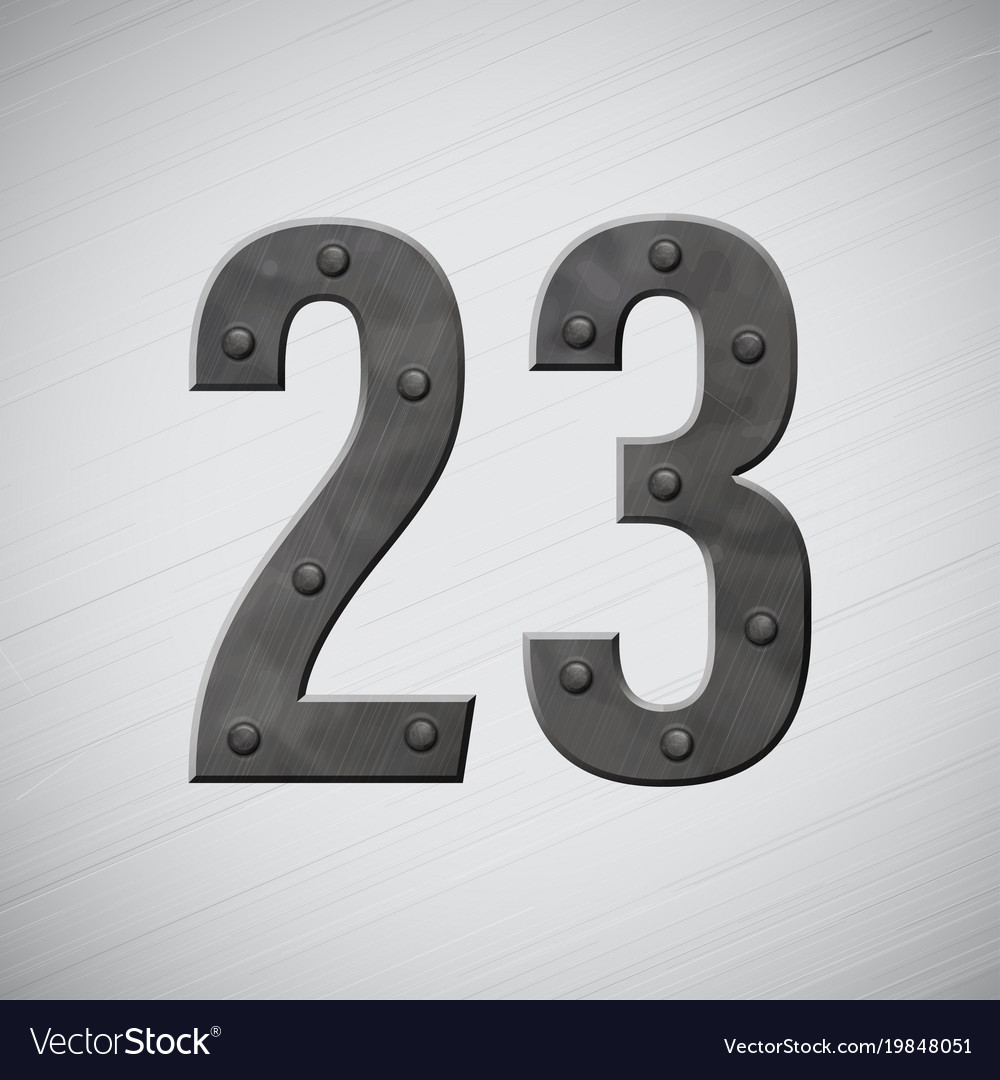 Metal numbrsd 2 and 3