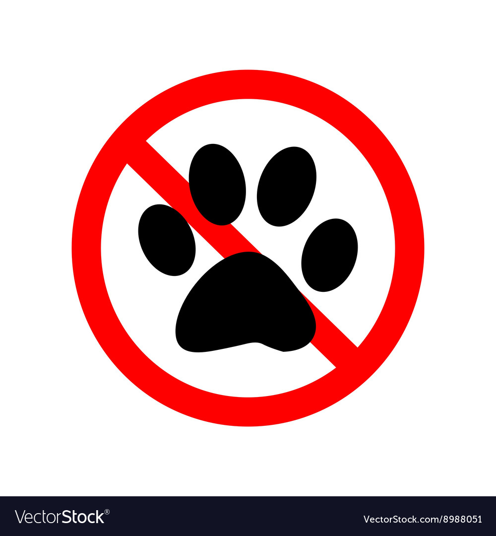 No Animal Paw Sign