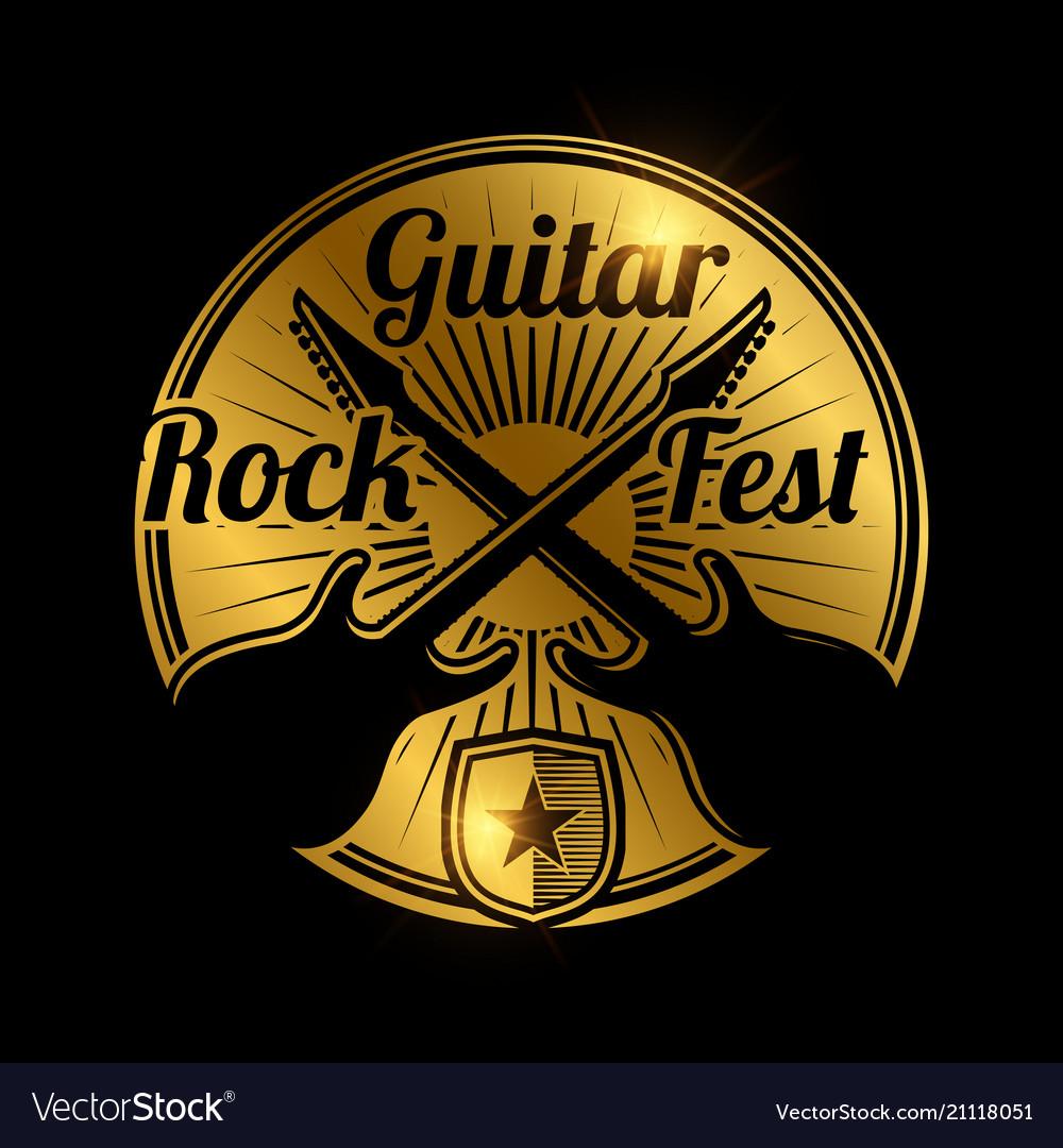 Rock fest icon design music festival