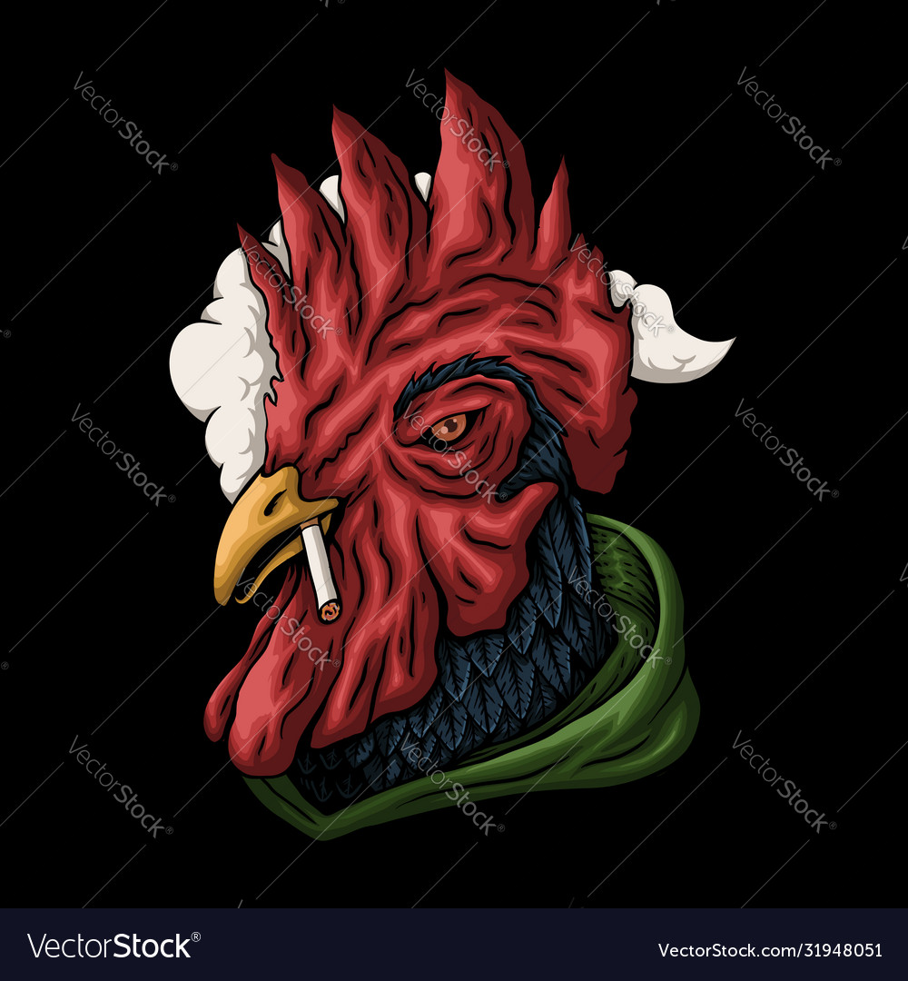 Rooster smoking