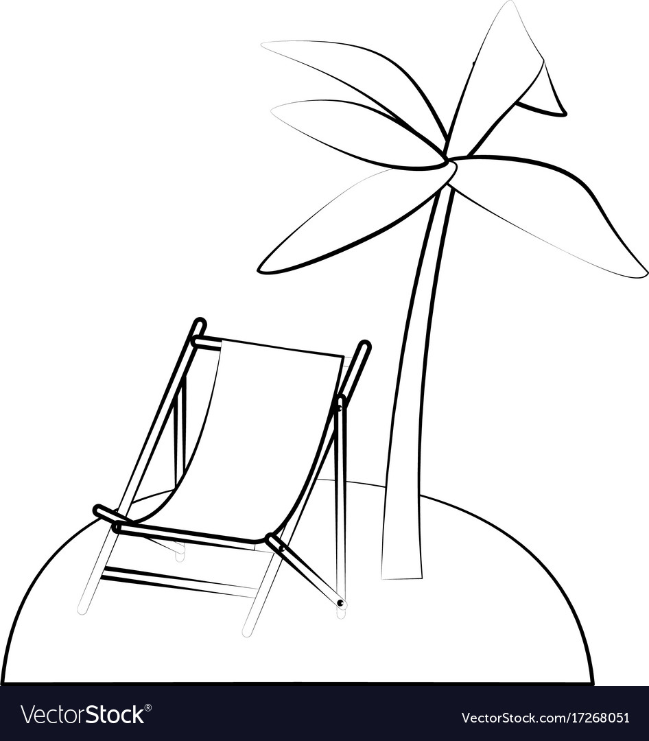 Tropical island with palm trees icon image