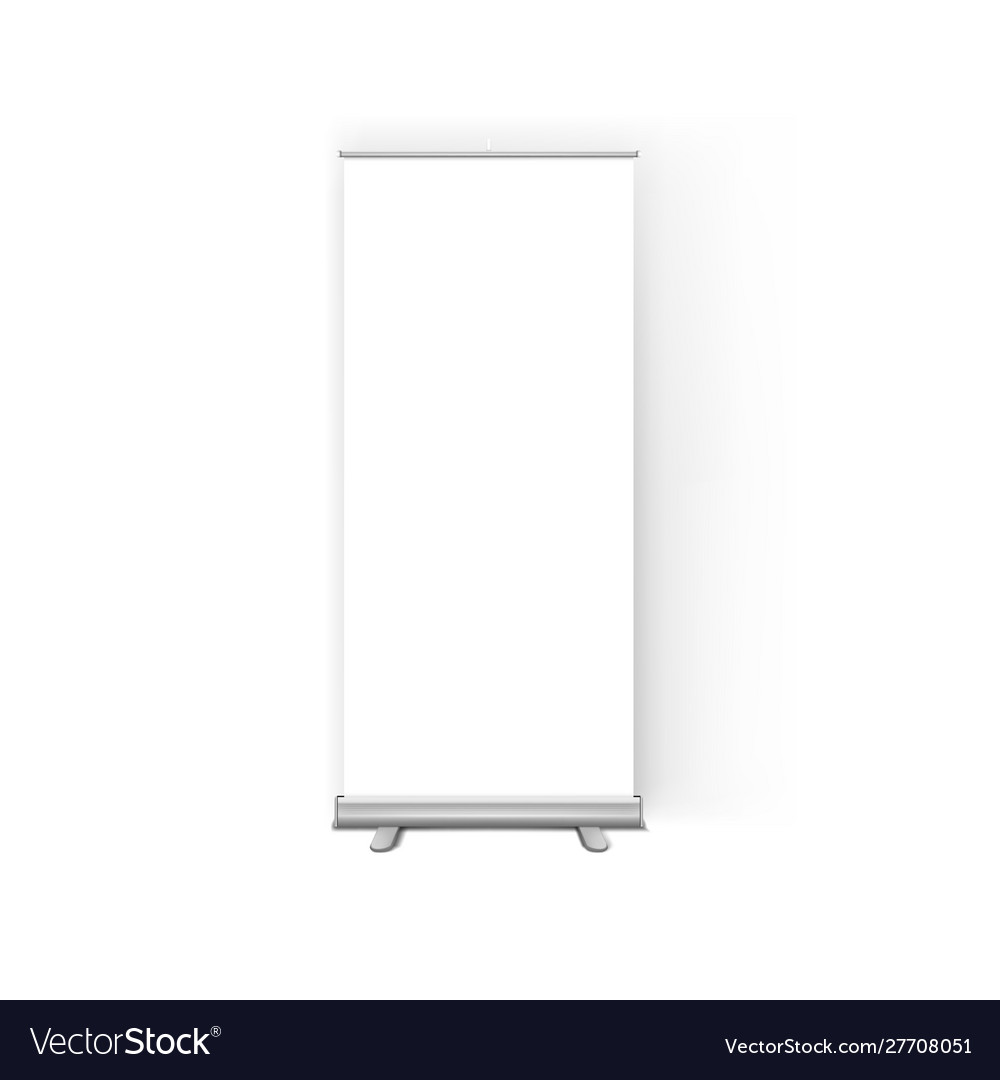 White clear roll up display banner stand template