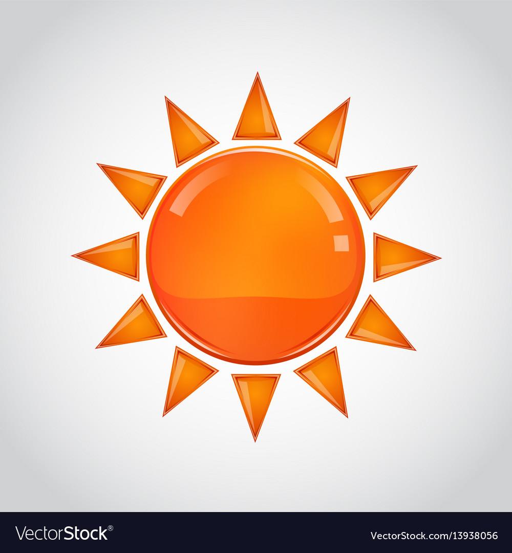Abstract orange sun on white background