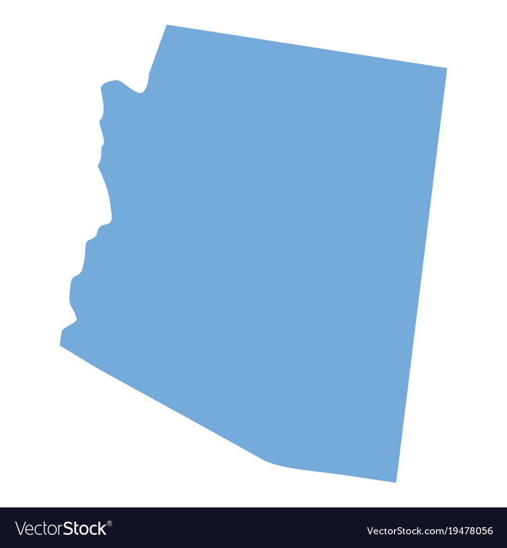 Arizona state map Royalty Free Vector Image   VectorStock