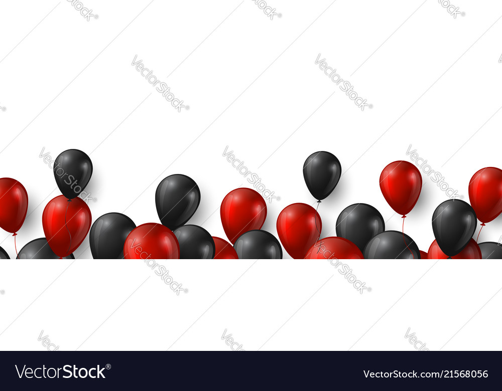 Black friday sale banner with glossy red and black