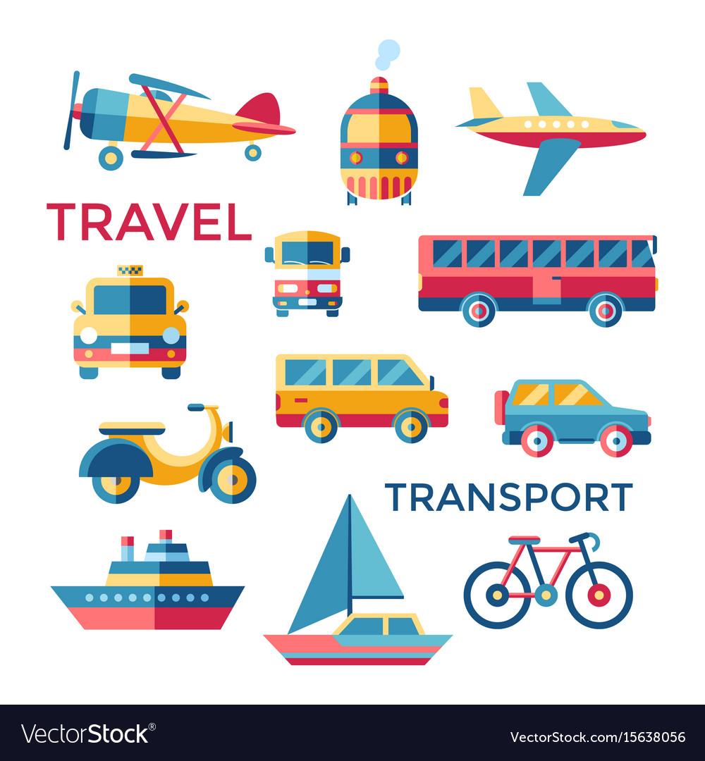 Digital blue red yellow travel