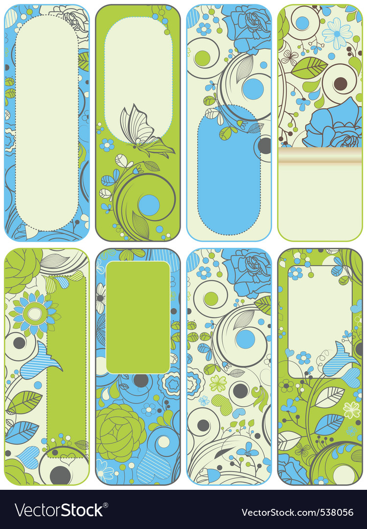 Floral banners vector image